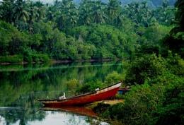 Boat at the bank of river