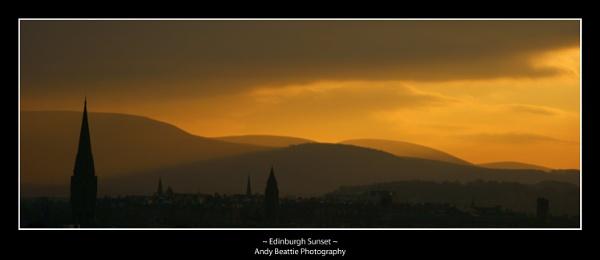 Edinburgh Sunset by AndyBeattie
