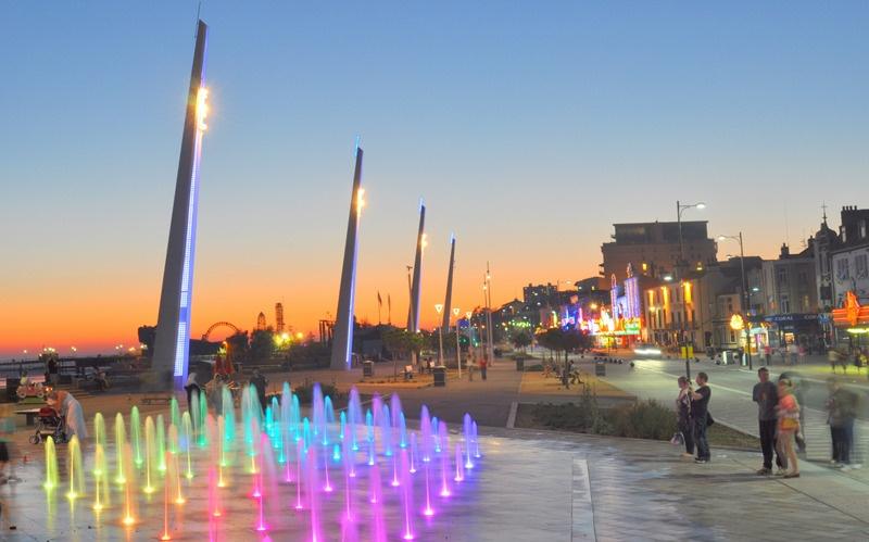 southend seafront city beach lighting by markt19 ephotozine