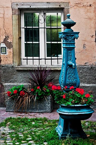 Window, pump&flowers.. by xwang