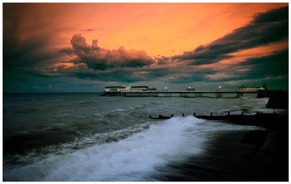 Cromer Pier in a storm by marathonman2
