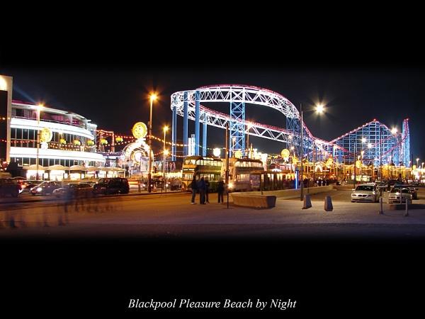 Blackpool Pleasure Beach by Night by danieltrude