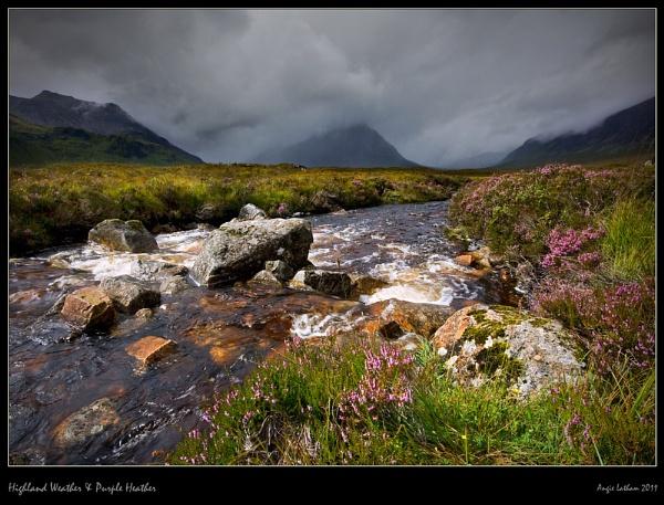 Highland Weather & Purple Heather by AngieLatham