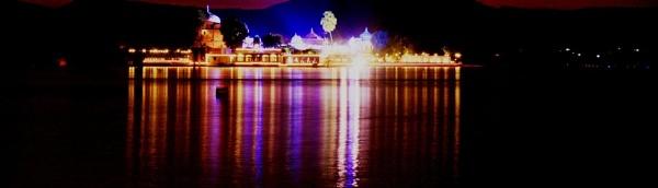 Illumineted Jag Mandir Udaipur by dsrathore999