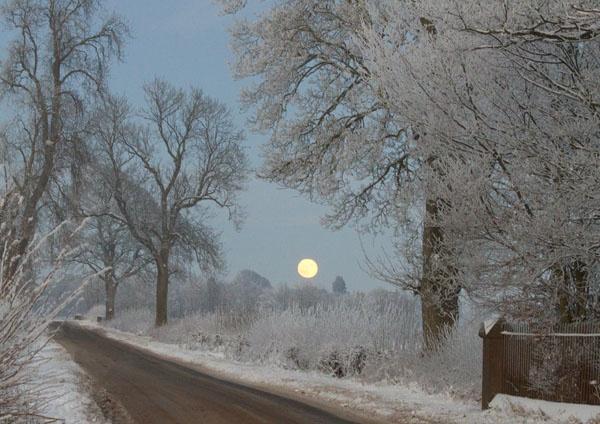 Winter moon by staituk