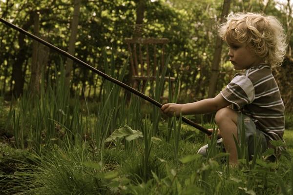 The Boy Fishing by Glen-W