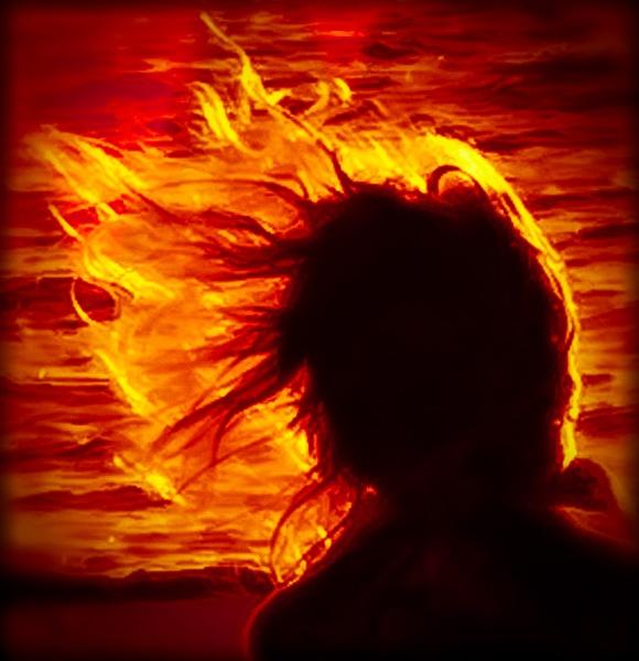 Flaming Hair by thatmanbrian