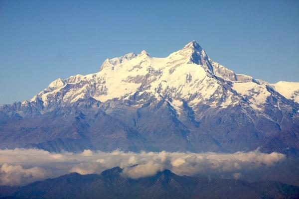 Himalayas near Kathmandu. by georg