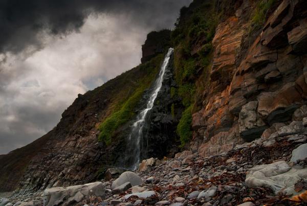 Beach Falls by Audran