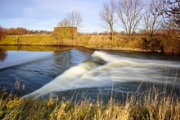 Marston Weir on the River Dove