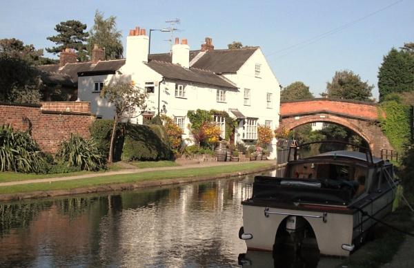 Lymm Cheshire Bridgewater Canal Scene by Ian21a