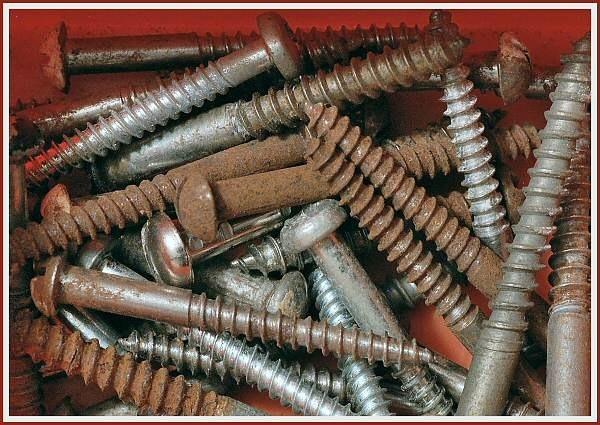 Rusting screws by JPatrickM