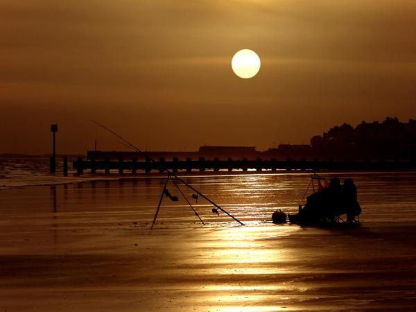 Bridlington Beach Fisherman by camramadbob