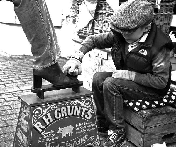 Shoeshine Boy by f8