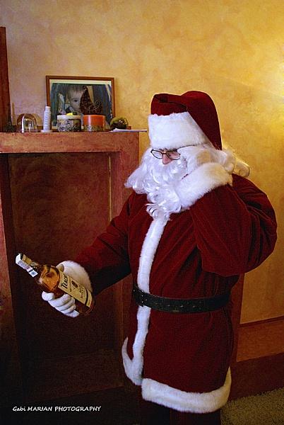 Confused Santa by gabymarian