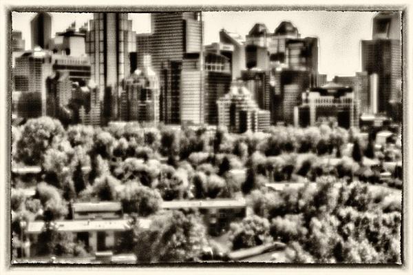 Pinhole shot of Calgary downtown by JohnnyG