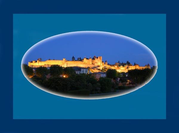 Carcassonne at dusk by Ian Pratt