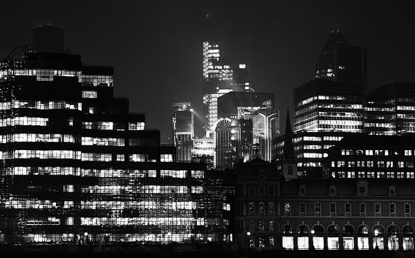 London night skyline by JackAllTog