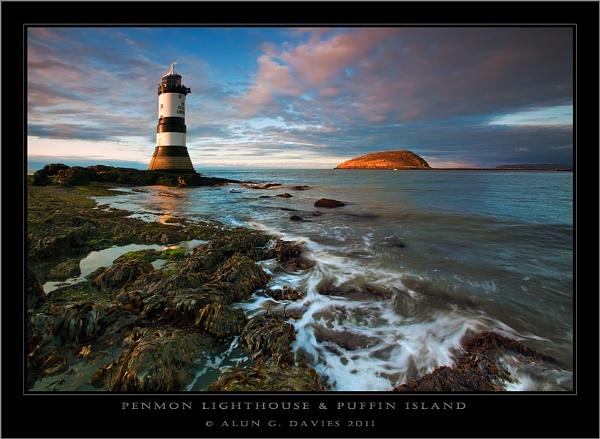 Evening at Penmon Lighthouse by Tynnwrlluniau
