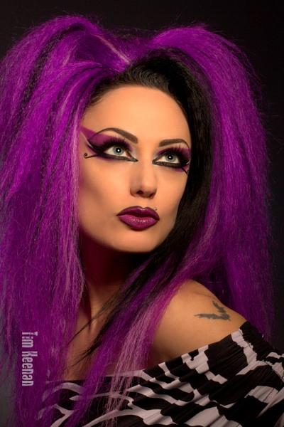 AndromedaX, purple hair by Mrserenesunrise