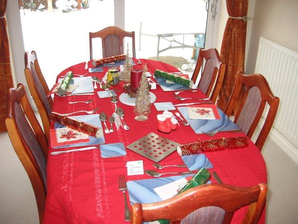 Christmas Dinner Table by voyger1010