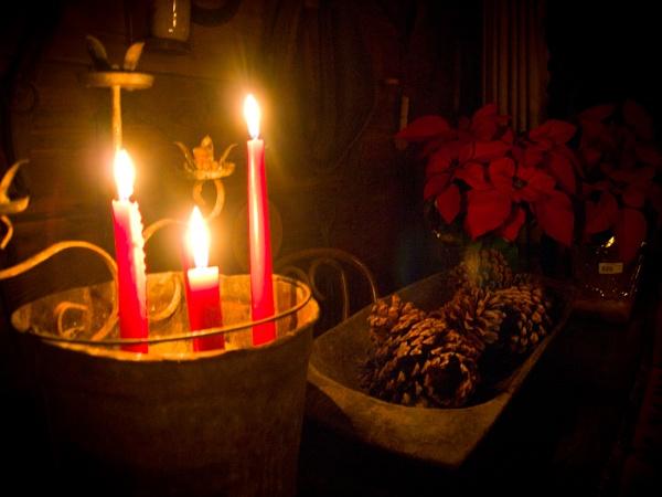 Christmas Cabin Candles by davidburleson