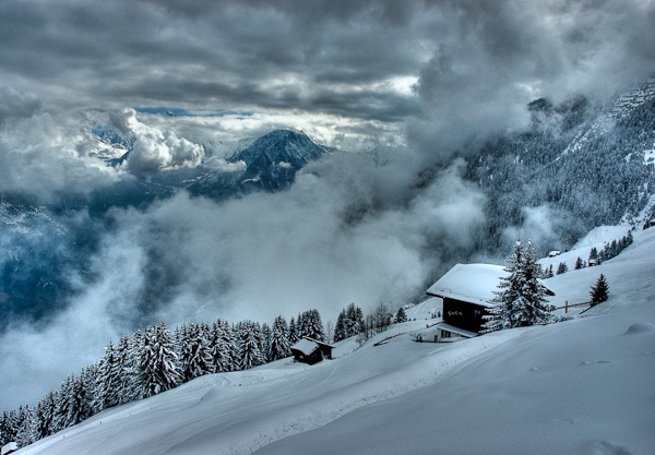Clearing winter storm, Riederalp, Switzerland by seahawk