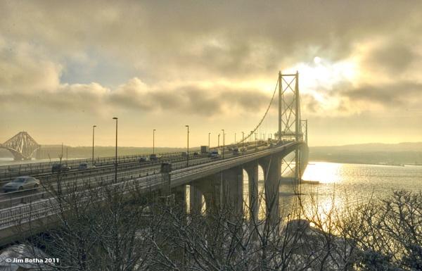 Forth Road Bridge by Jimbotha