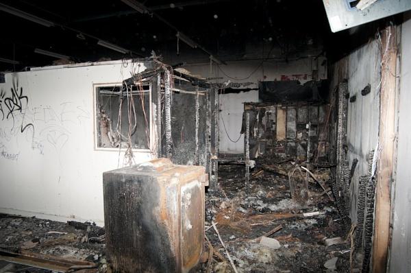 FIRE DAMAGED UNSAFE BUILDING by davie