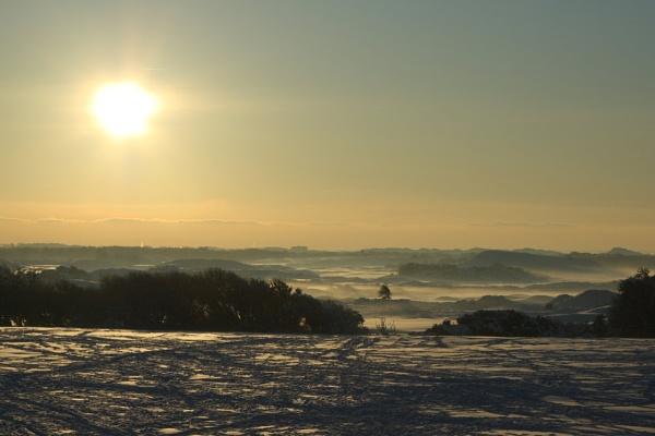 Royal Birkdale Snowy Sunset by darrenwilson41