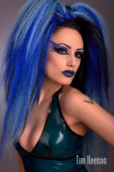 AndromedaX, blue hair by Mrserenesunrise