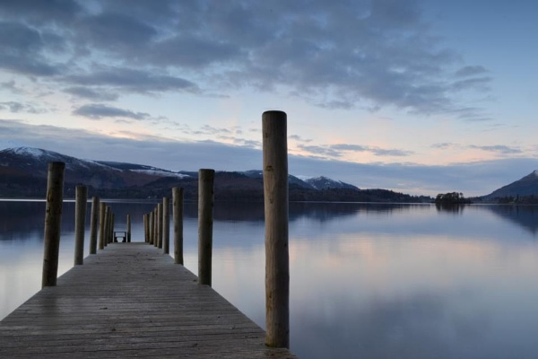 Calm waters Derwentwater Keswick by Jackx