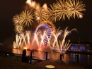 London eye Fire Works.