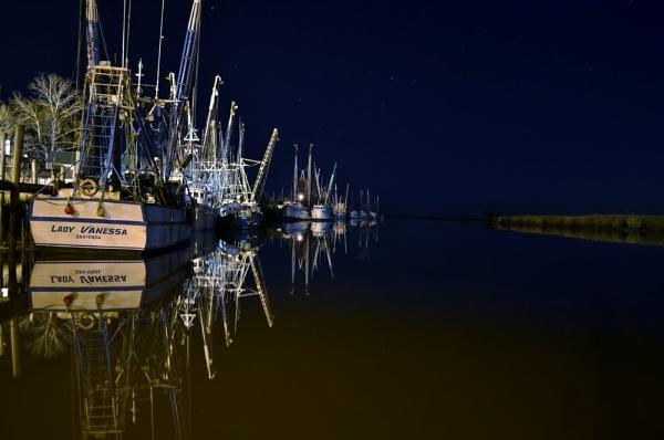 Shrimp Boats At Rest by kmfletch