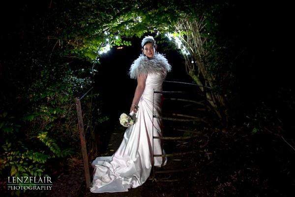 Winter wedding kissing gate by martinproe