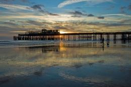 hastings pier sundown