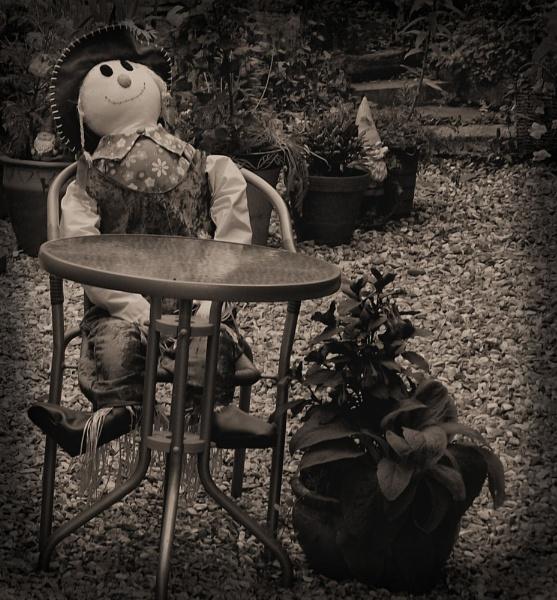 scarecrow tea time by opiumhaze