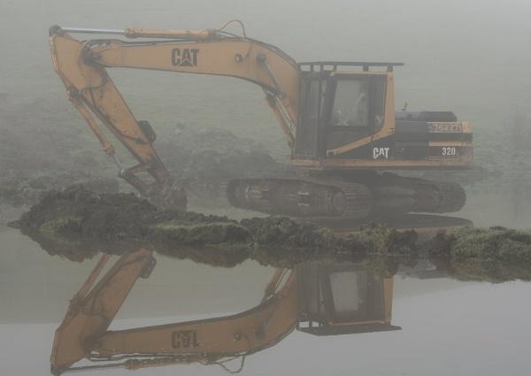 Digger inthe Mist by advancedbiker