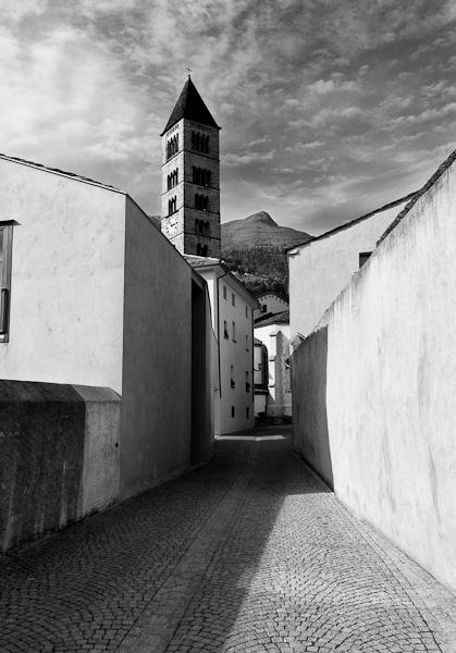 Poschiavo, old town, Switzerland.