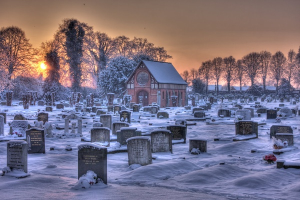 Wintry Graveyard by stevew10000