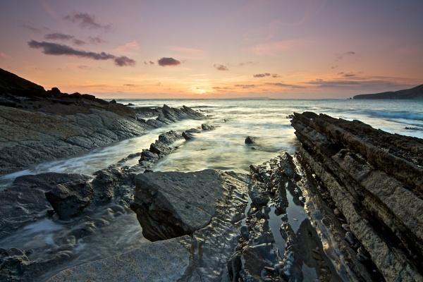 Worrbarrow Tout Sunset by shawnsphotos