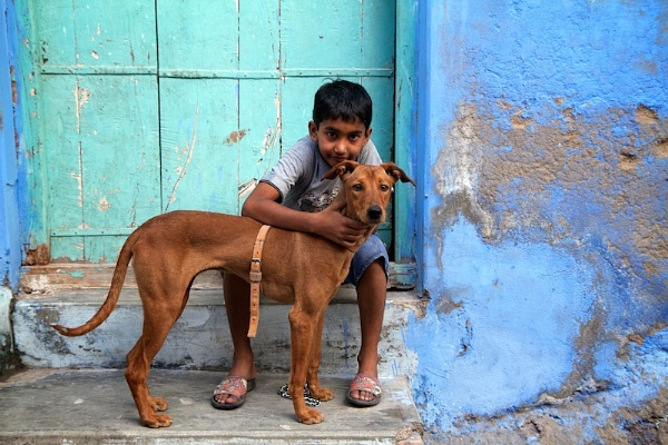 A boy and his best friend, Jodhpur, India. by travelshooters