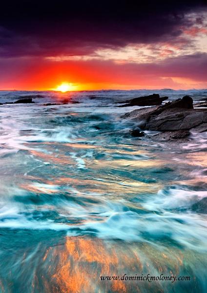 Sunset Spanish point, Co Clare, West of Ireland, by irishdomo1