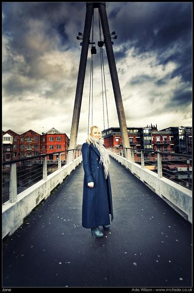 Jane on Millennium Bridge by ade_mcfade