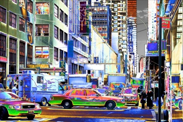 bustling New York City by thvisions