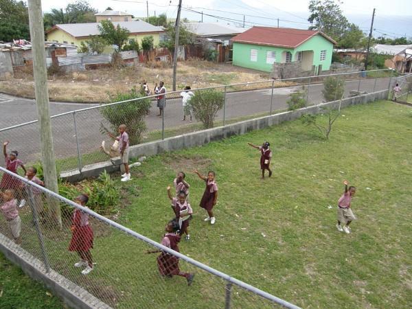 School children\'s Welcome by voyger1010