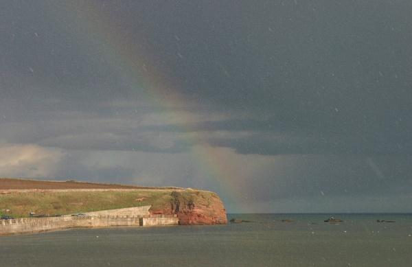 Hail Storm near Arbroath by livinglevels