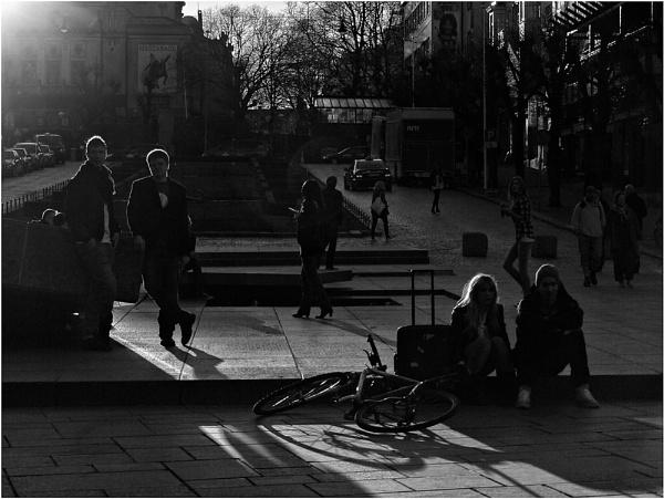 When the Sun Goes Down - Ole Bulls Plass by AnneWorner