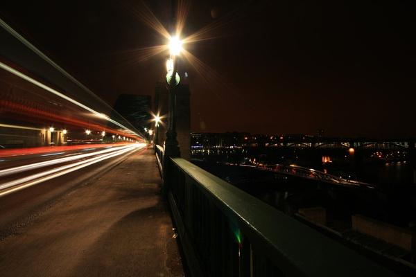 TYNE BRIDGE LIGHT TRAIL by gary1966