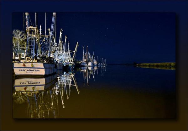 Shrimp Boats At Rest-2 by kmfletch